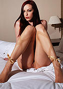 Emily Marilyn with nothing but pantyhose on