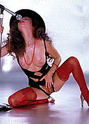 Loni Sanders classic porn babe in red stockings