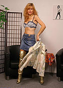 Horny Redhead in Boots and STW-Pantyhose
