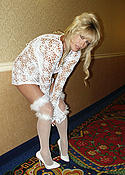 Blonde Wife Skimpy Outfit in Public