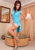 Sexy Hawaii MILF Roni in dress and nylons