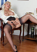 Lana in sexy stockings