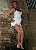 barn babe in nylons and slip